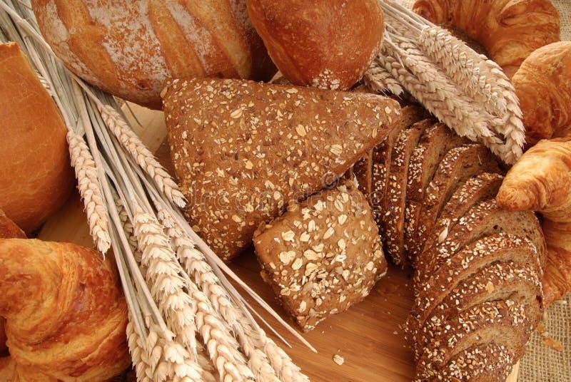 Visualizzazione varia del pane fotografie stock libere da diritti