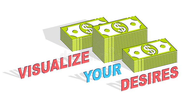 Visualizzi il vostro manifesto di motivazione di affari di scopi o insegna, contanti royalty illustrazione gratis