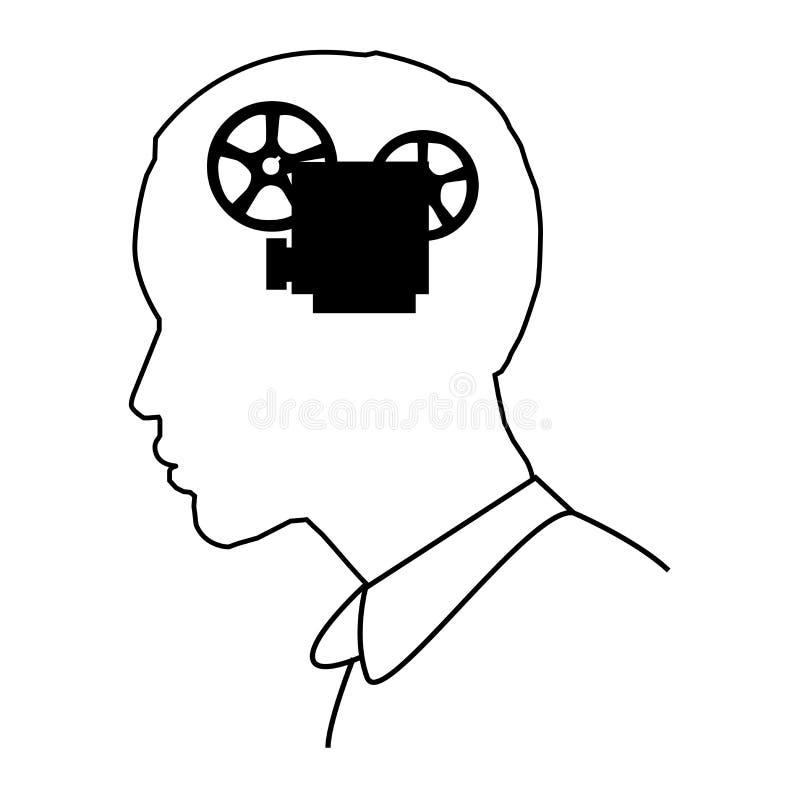 Visueel geheugen stock illustratie