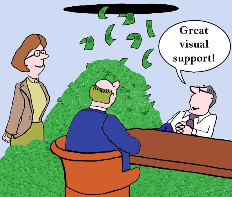 Visuele steun vector illustratie