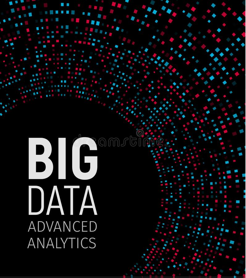 Visuella energifractals för stora data Infographic teknologinätverk Informationsanalyticsdesign också vektor för coreldrawillustr royaltyfri illustrationer