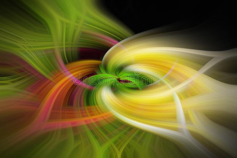 0564 Visuelles kraftvolles abstraktes Verzameling mit hypnotischer Wirkung stock afbeelding