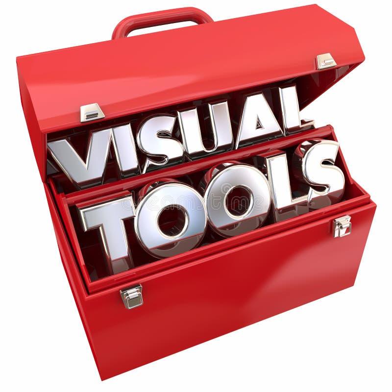 Visuellt hjälpmedelhjälpmedel som lär utbildningsresurstoolboxen stock illustrationer