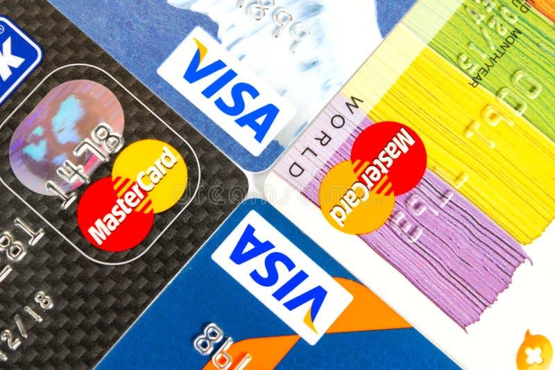 Visum en Mastercard royalty-vrije stock afbeelding
