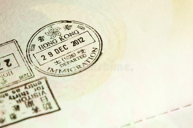Visum stämplad plats royaltyfria bilder