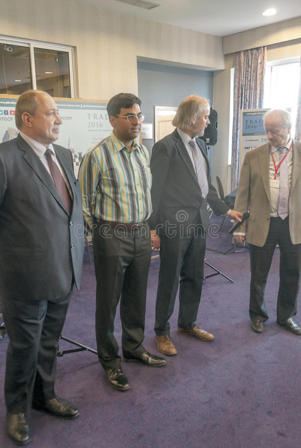 Viswanathan Anand image libre de droits