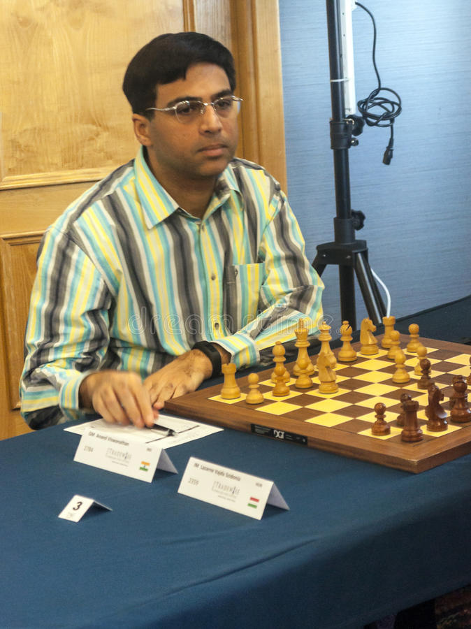 Viswanathan Anand. Chess player in the international open Gibraltar. It is one of the most important in the world open. It is an editorial image September 2015 stock photography