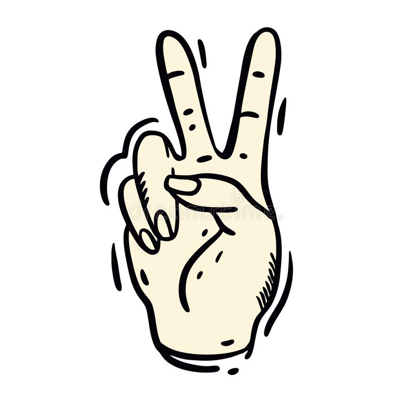A vitória é a vossa cartaz da motivação da rotulação da mão do conceito Projeto moderno artístico para um logotipo, cartões da ca ilustração do vetor