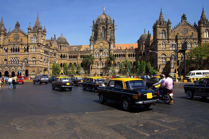 Vitória da estação de comboio. Mumbai, India imagem de stock royalty free