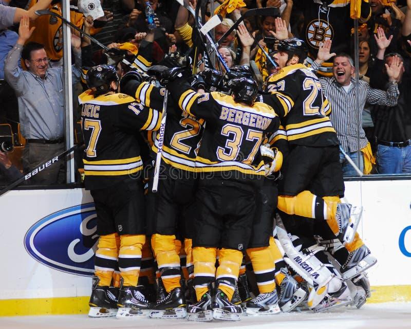 Vitória dos Boston Bruins fotografia de stock