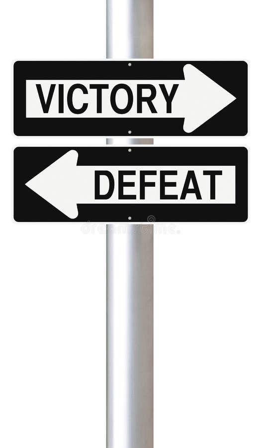 Vitória ou derrota ilustração do vetor