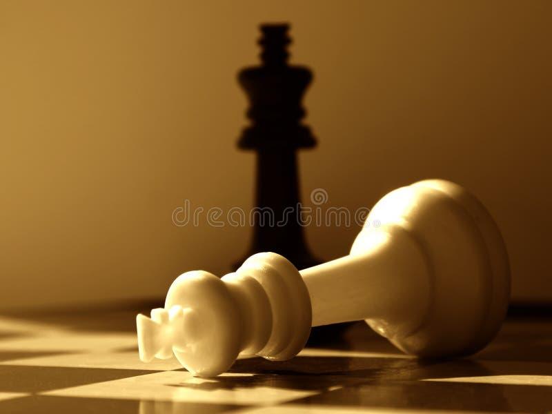 Vitórias Do Preto Da Encenação Da Xadrez Fotografia de Stock Royalty Free