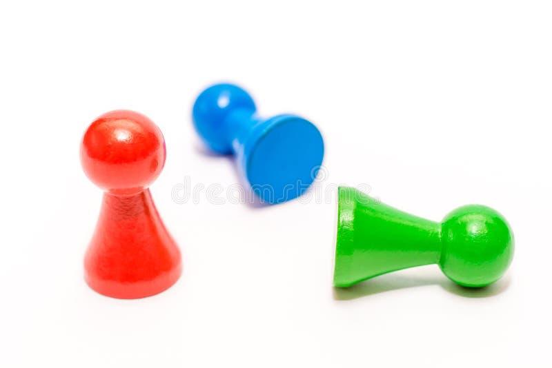 Vitórias vermelhas em uma cena ajustada com jogo de partes fotografia de stock