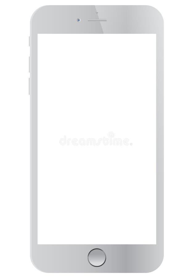 Vit Apple iPhone 6 stock illustrationer