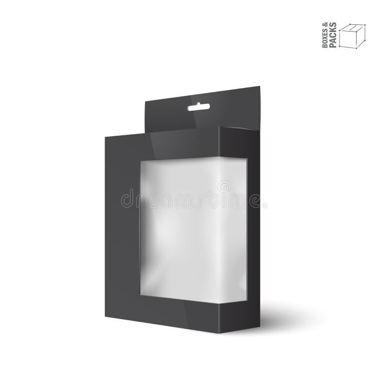 Vit ask för packe för vektorprodukt med fönstret stock illustrationer