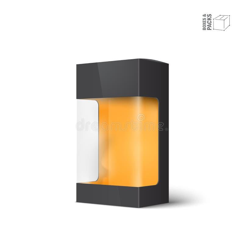 Vit ask för packe för vektorprodukt med fönstret royaltyfri illustrationer