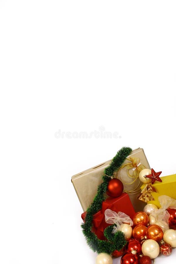 vit bac-bolljul royaltyfria bilder