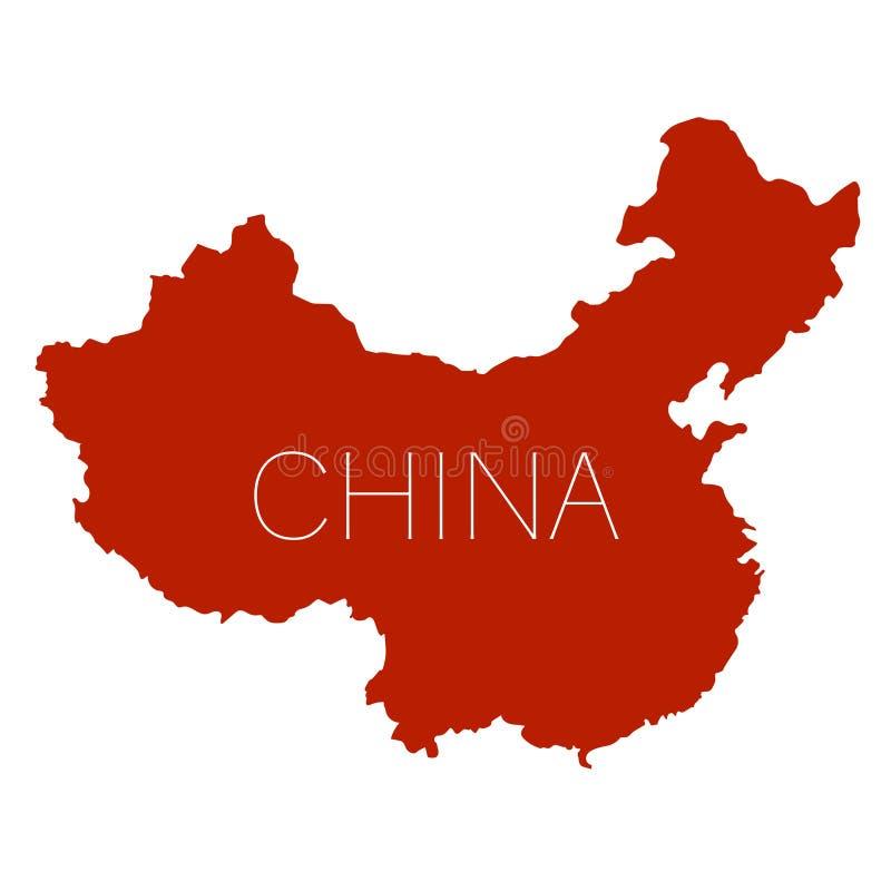Vit bakgrund för Folkrepubliken Kina översikt royaltyfri illustrationer