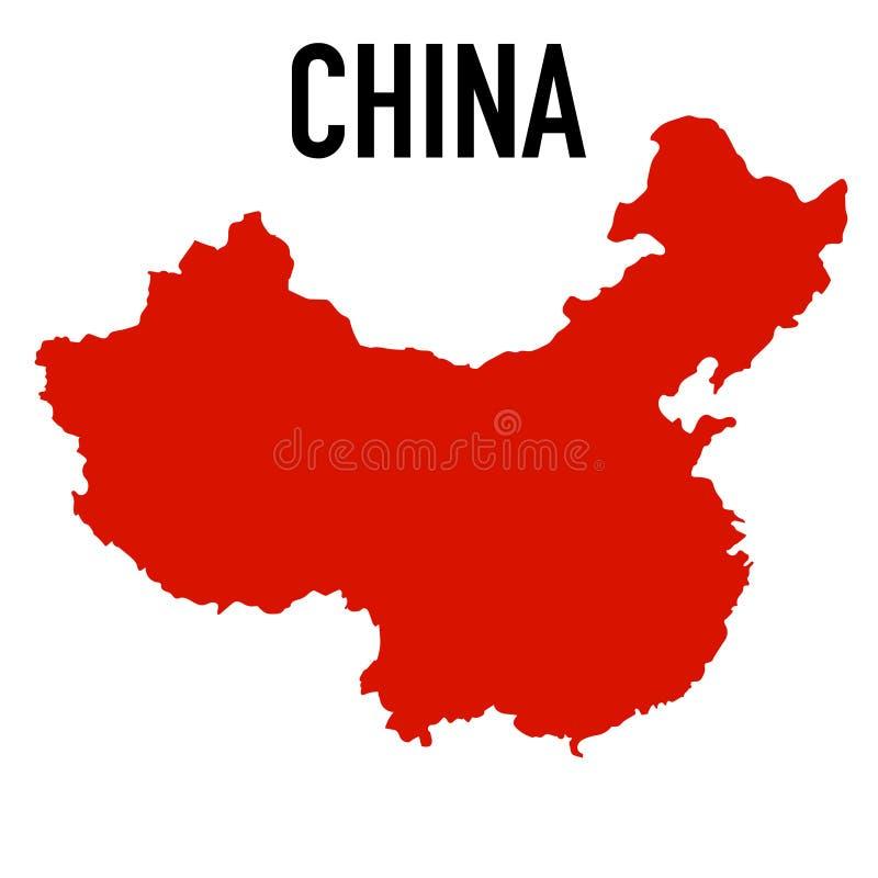 Vit bakgrund för Folkrepubliken Kina översikt vektor illustrationer
