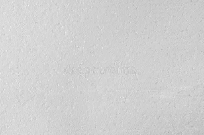 Vit bakgrund för polystyrentexturcloseup arkivfoto