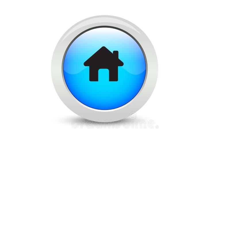 Vit bakgrund för svart hem- knapp för rengöringsdukknapp klassisk blå royaltyfri illustrationer