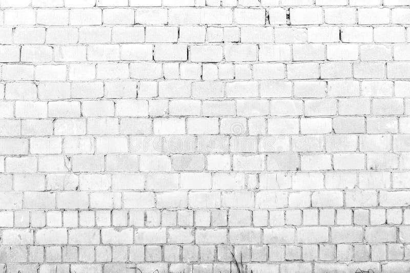 Vit bakgrund för tegelstenvägg