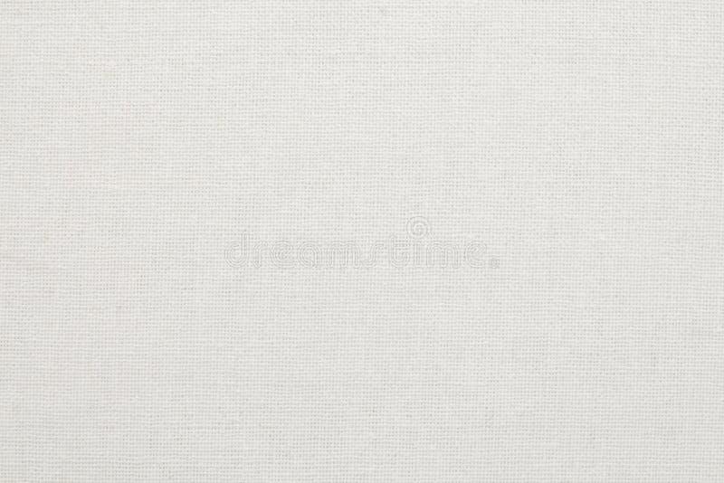 Vit bakgrund för textur för bomullstyg, sömlös modell av den naturliga textilen fotografering för bildbyråer