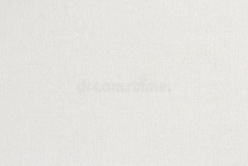 Vit bakgrund för textur för bomullstyg, sömlös modell av den naturliga textilen arkivbild