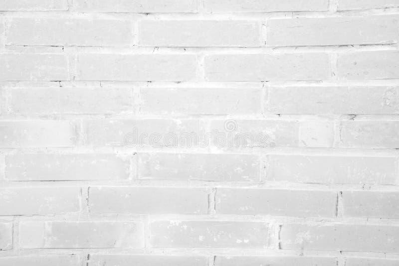 Vit bakgrund för textur för grungetegelstenvägg royaltyfri foto