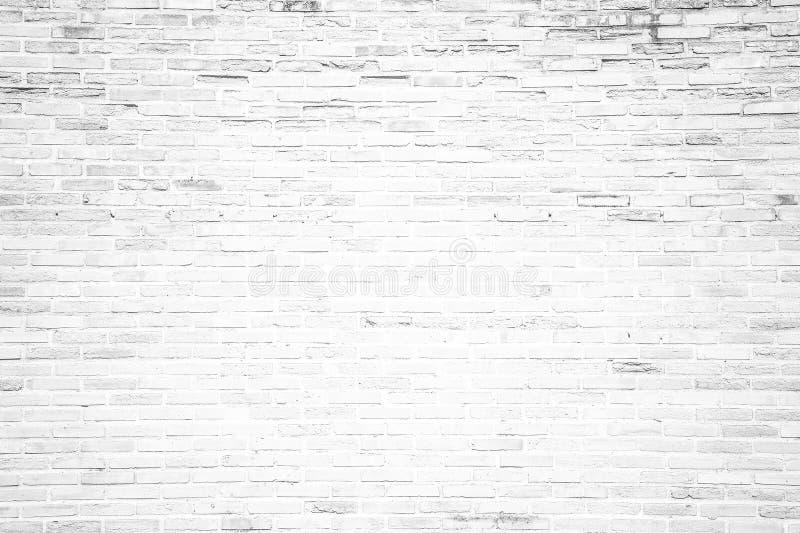 Vit bakgrund för textur för grungetegelstenvägg fotografering för bildbyråer