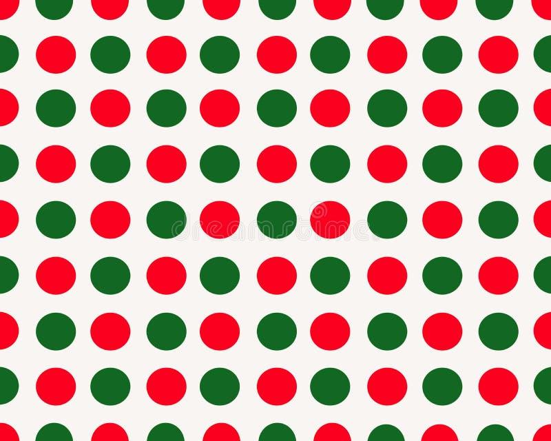 Vit bakgrund med röda och gröna prickar royaltyfri bild
