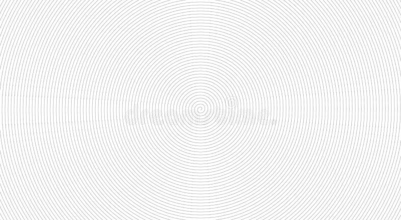 Vit bakgrund med spiral, gråa rundor vektor illustrationer