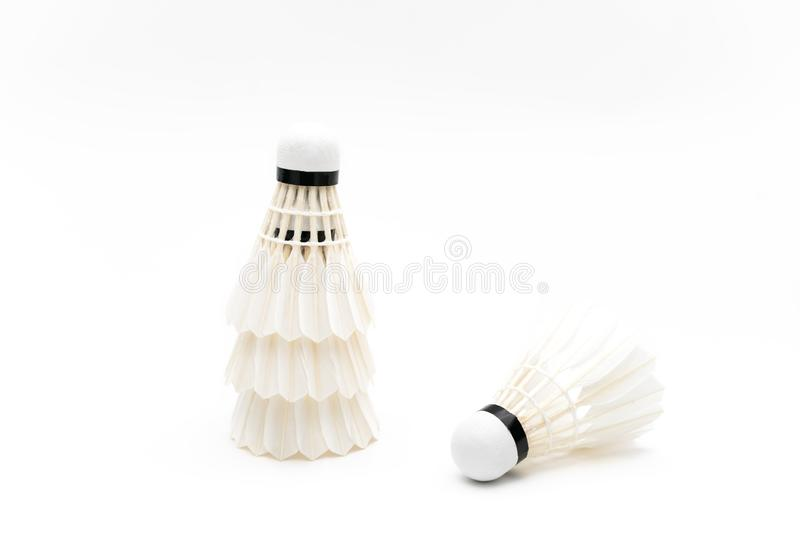 Vit bakgrundsöversikt av badminton royaltyfria foton