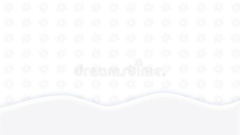 VIT bakgrundstextursnöflinga stock illustrationer