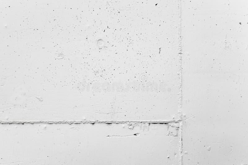 Vit betongvägg med murbruk, bakgrundstextur arkivfoto