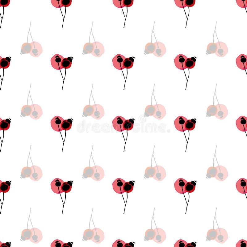 Vit blom- modell med knoppen vektor illustrationer