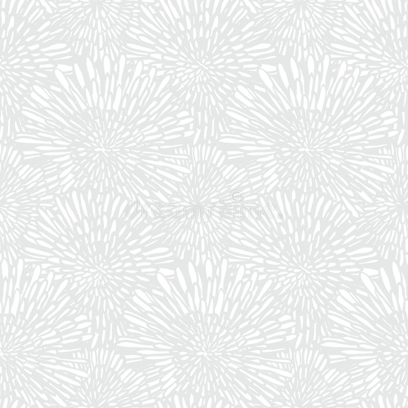 Vit blom- textur i tappningstil stock illustrationer