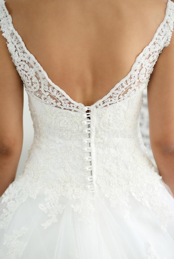 Vit bröllopkorsett fotografering för bildbyråer
