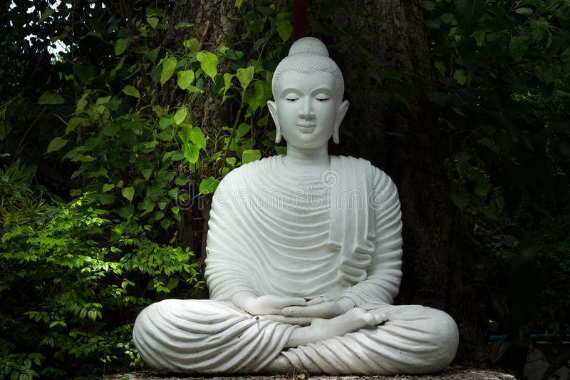 Vit Buddha arkivfoton