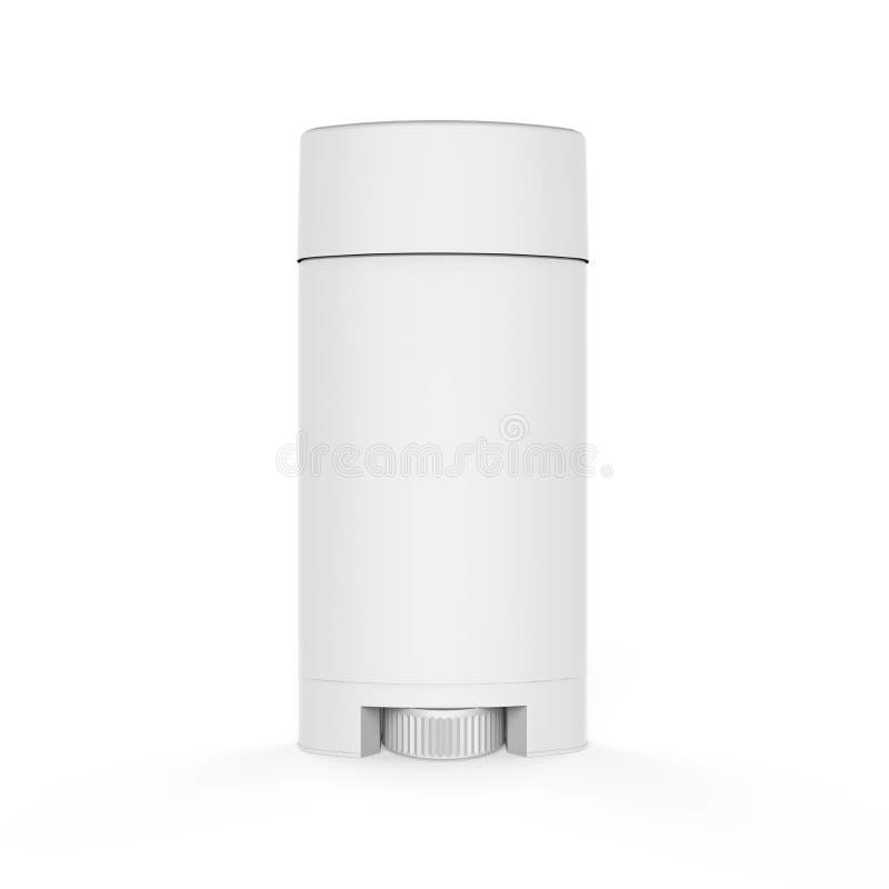 Vit deodorantbehållare stock illustrationer
