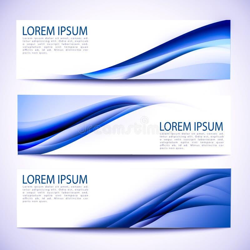 Vit design för abstrakt titelradblåttvåg vektor illustrationer