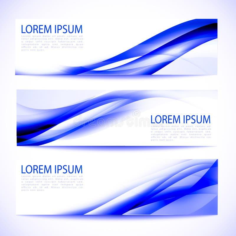 Vit design för abstrakt titelradblåttvåg stock illustrationer