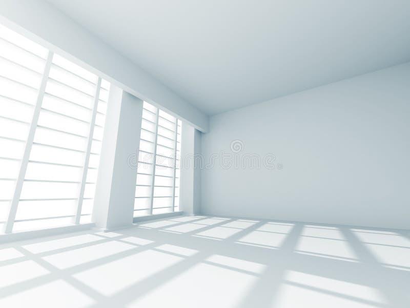 Vit designinre för abstrakt tomt rum stock illustrationer