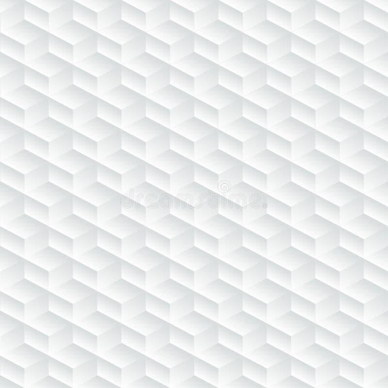 Vit diagonal utföra i relief abstrakt sömlös modell stock illustrationer