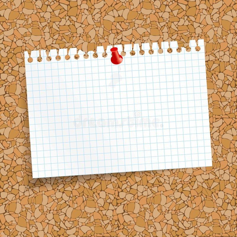 vit färgade rutig rest av papper med stiftvisaren vektor illustrationer