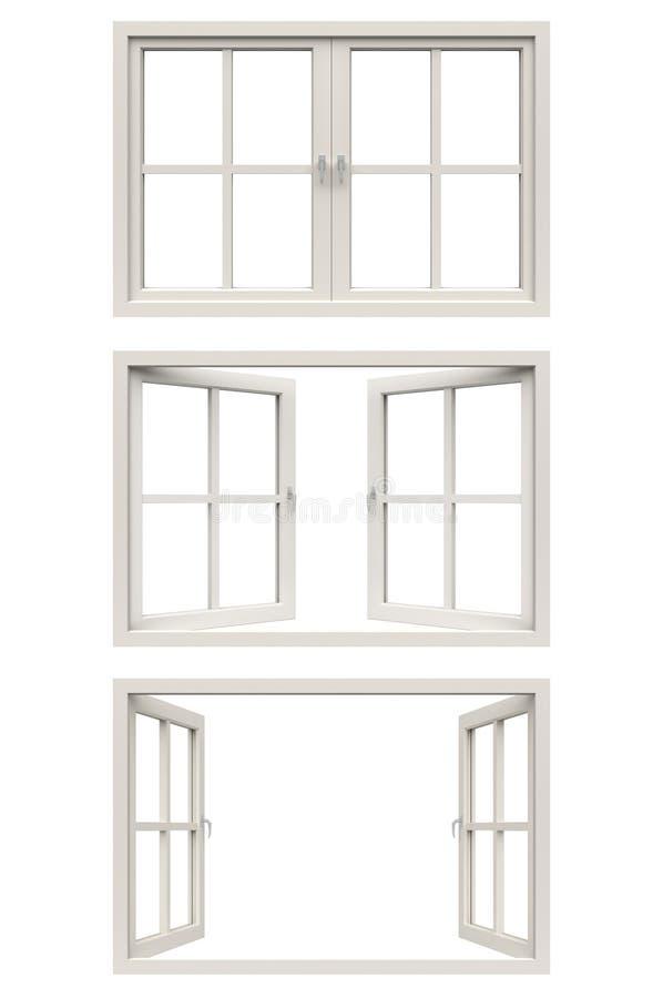 Vit fönsterram vektor illustrationer