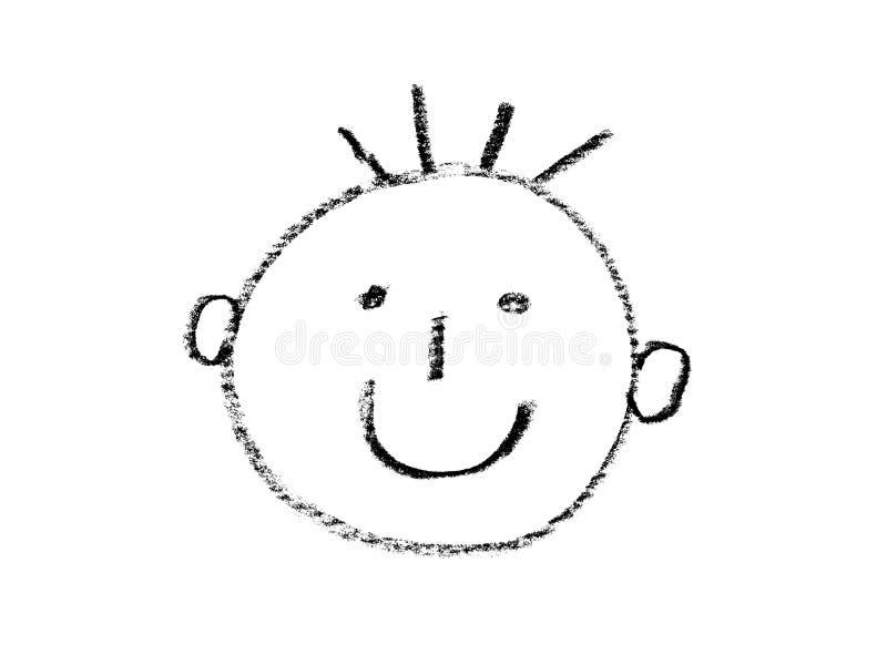 Vit för framsidamanpojke royaltyfri illustrationer