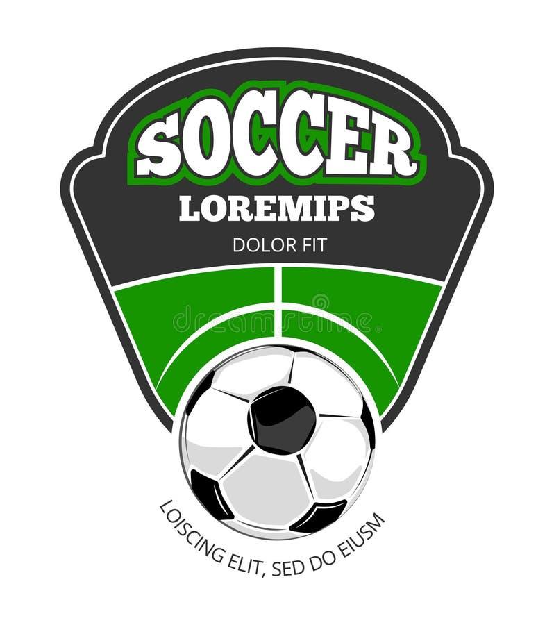 Vit för mall för logo för fotbollklubbavektor stock illustrationer