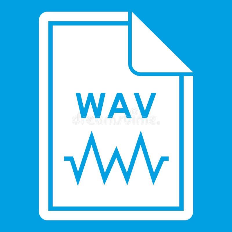 Vit för mappWAV symbol royaltyfri illustrationer
