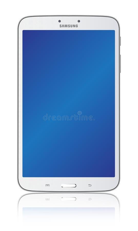 Vit 8,0 för Samsung galaxflik 3 vektor illustrationer